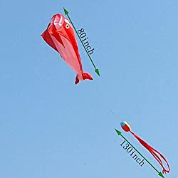 Giant Size Dolphin Kite, Framless Kite ,Include Kite Reel / Winder And Line