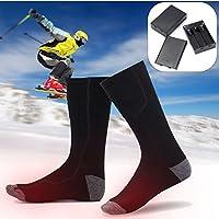 SAFEPRINT Tyon Calcetines con calefactor para hombre y mujer, calcetines térmicos con batería algodón, soporte calentador Calcetines para esquí/snowboard/räumung de nieve/hielo Correr