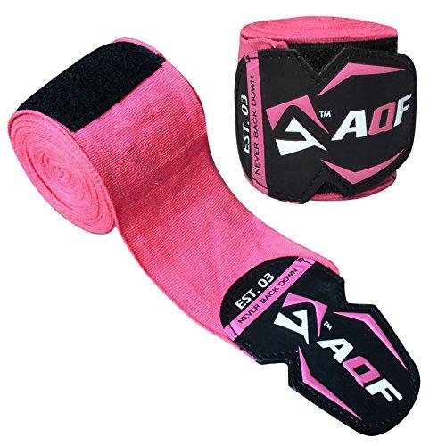 Cintas elásticas levantamiento pesas marca AQF, guantes