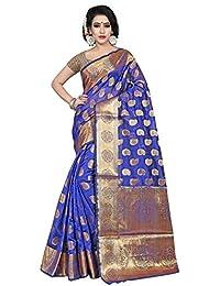 [Sponsored]Hinayat Fashion Wonderful Blue Banarasi Silk Saree For Women