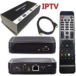Asmeten IPTV Box with 12 Months Prepaid IPTV 3000+ Global TV Channels
