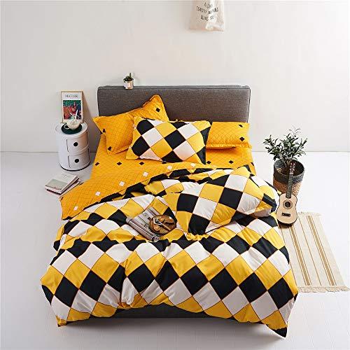 YUNSW Baumwolle Bettbezug Erwachsene Schlafzimmer Twin Voll Königin König Bettwäsche Bettbezug Tröster Abdeckung Bettwäsche B 200x200 cm -
