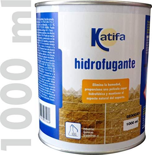 Hidrofugante transparente KATIFA. Impermeabiliza y elimina la humedad en fachadas y suelos de piedra, ladrillo, hormigón, etc.