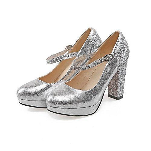 Balamasa, Zapatos De Tacón De Plata Para Mujer