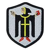 Münchner Kindl Flagge Bestickt Patch Badge Wappen (Schwarze Umrandung)
