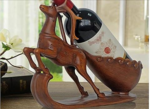 ornements casier à vin, les soins de vin de cerf, cadeau de pendaison de crémaillère nouvelle maison