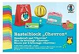 Ursus 13460099 - Bastelblock Chevron, 300 g/qm, 24 x 34 cm, 18 Blatt