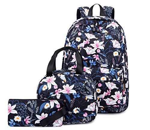 Joymoze Süße Büchertasche mit Tasche für Mittagessen