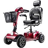 Scooter Electrico Para Minusvalidos 4 Ruedas,moto Electrica Plegable Ligera Para Personas Mayores Con Asiento
