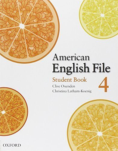 American English File 4 Student book 1st edition by Oxenden, Clive, Latham-Koenig, Christina, Seligson, Paul (2008) Paperback