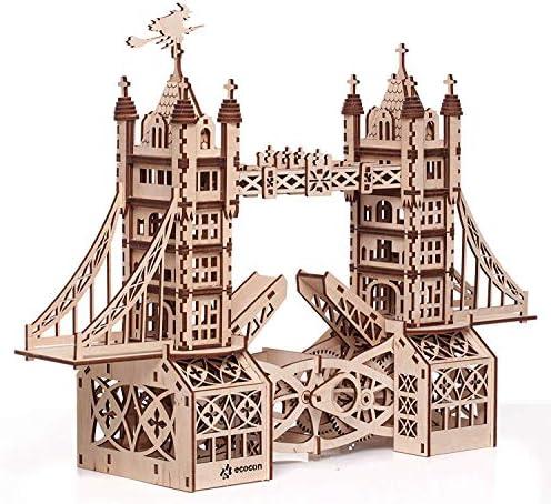 Punk Famille Tower Bridge Bridge Bridge Animate en bois mécanique 3d puzzle 75a790