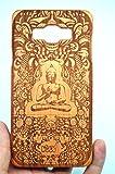 Samsung Galaxy A5 Hülle, Holzsammlung® Holz Tasche für Samsung Galaxy A5 A500H (Kirschholz Indischen Buddha) - Handgefertigt Hölzernen Fall und Abdeckung für Ihr Smartphone und Tablet PC