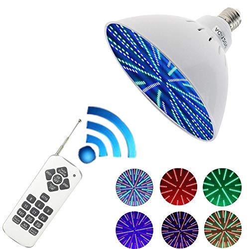 YOZOOE 120 V, 35 Watt RGB Farbwechsel Schwimmbad Lichter Birne LED PAR56 500 Watt Halogenlampe Ersatz Passt Inground Pool mit Fernbedienung Kinderzimmer Nachtlichter -