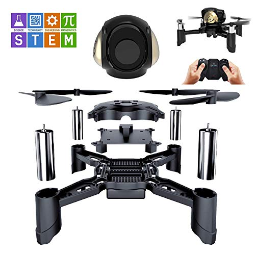 Rc Steam Ferngesteuertes Spielzeug DIY Mini Racing Drohne Headless Modus 2,4 Ghz LED RC Quadrocopter Altitude Hold Geschenke für Anfänger Kinder und Erwachsene Ferngesteuertes flugzeug
