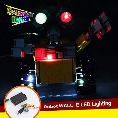 LED-Beleuchtungsset Für (Ideas Wall E) Bausteine   - LED-Beleuchtungsset Kompatibel Mit Lego 21303 (NICHT Im Lieferumfang Des Modells Enthalten)