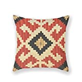KLYDH Tribal Patterns Tribal Indian Symbolic Icons Stylish D¨¦COR Pillow Case Throw Pillow Cover Customized Pillowcase Decorative Pillow Case Pillow Covers Cotton,18X18Inches