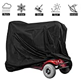 VVHOOY Mobility Scooter Cover Waterproof Outdoor with Storage Bag for Electric Wheelchair 4 Wheel Travel Power Scooter Protects from Snow Rain Sun and Dust(55x26x36inch)