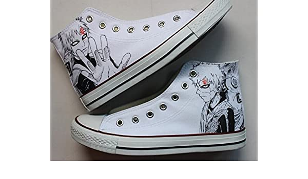 99e8c5aa79054f Naruto Gaara Sneaker Converse Shoes White Shoes Converse Custom Anime  Design Hand Painted with Waterproof Paints Great Presents for Men Women   Amazon.co.uk  ...