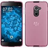 PhoneNatic Case für BlackBerry DTEK60 Hülle Silikon rosa transparent Cover DTEK60 Tasche + 2 Schutzfolien
