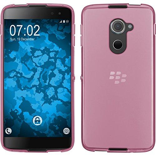 PhoneNatic Case für BlackBerry DTEK60 Hülle Silikon rosa, transparent + 2 Schutzfolien