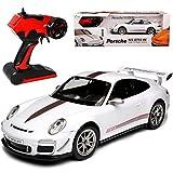 Porsche 911 991 GT3 RS 4.0 Weiss Ab 2011 - Komplettset mit Akku - 2,4 GHz RC Funkauto - mit Beleuchtung - sofort startklar - 1/14 Modellcarsonline Modell Auto mit individiuellem Wunschkennzeichen