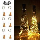 Umiwe 20 luci della stringa della bottiglia del LED, luci di rame del vino Luci della batteria Lanterne delle luci stellate (la bottiglia non è inclusa)