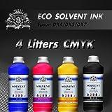 4Liter neue Eco Solvent Tinte CMYK für Roland Mimaki Mutoh Epson DX4/5/7