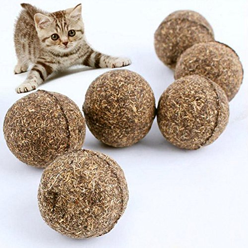 Demiawaking 5 stücke Katze Spielzeug Natürliche Katzenminze Ball Menthol Geschmack Katze Behandelt Essbare Katzen Leckereien Pet Spielzeug