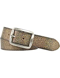 8f5d5d439636 Vanzetti Damen Leder Gürtel Rindleder Damengürtel kupfer metallic 40 mm mit  Airbrushkanten