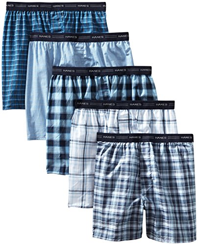 d Plaid Boxers 5-Pack 2XL Assorted ()