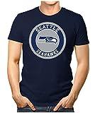 Prilano Herren Fun T-Shirt - Seattle-Seahawks - 4XL - Navy