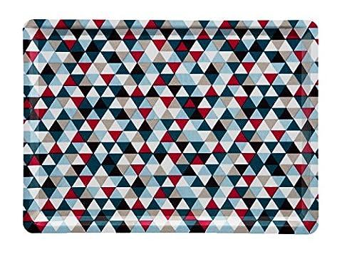 Platex 102820295S Slim Plateau Bleu/Diamond Rose 28 x 20 x 1 cm