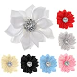 Magideal 10pcs Satin Ribbon Roses Flower Craft DIY Accessory Wedding Appliques Beige
