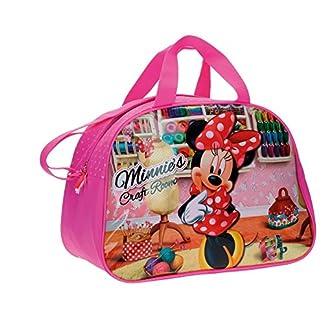 Disney Minnie Craft Room – Bolsa de Viaje, 24.64 Litros, Color Rosa