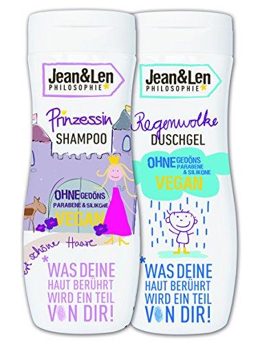 Jean and Len Shampoo Prinzessin Plus Duschgel Regenwolke, (1 x 2 Stück)