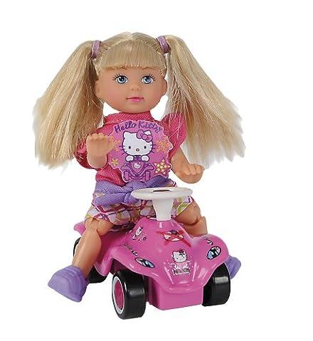 Simba Toys 105730973 - Evi Love Puppe Hello Kitty Bobby Car, sortiert