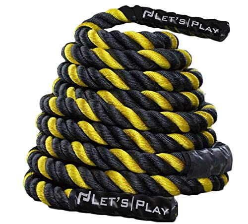 """Letsplay V2 Color Battle Ropes/Pure Poly Dacron Battle Rope for Strength and Conditioning Workouts - Now Special Pricing on 1.5"""" and 2"""" Diameter, 30ft, 40ft, 50ft Options"""
