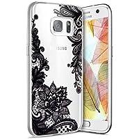 Funda Galaxy S7 Edge ,Funda Silicona Gel Carcasa Ultra Delgado Flexible Tpu Goma Silicona Protector Flexible Cover Case Estuche Protective Caso para Samsung Galaxy S7 Edge ,Patrón de Encaje