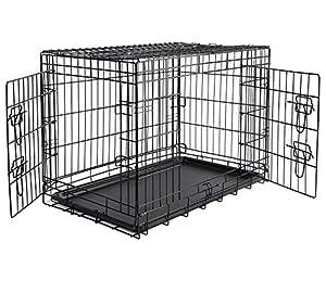 WOLTU HT2030m3 Cage pour Chien Pliable et transportable,Cage Pliante en métal Taille XL,107x71x76cm