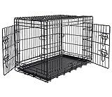 WOLTU HT2030m3 cage de transport pliable pour chiens ,Caisse de transport pour Chien,cage pour animaux,chats cage,métal,taille XL,107x71x76cm