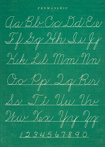 Cavallini & Co. Chalkboard Penmanship Chart Decorative Decoupage Poster Wrapping Paper Sheet