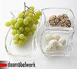 Snackschalen Dipschalen Servierschalen Knabberschalen Leonardo 3 Stück im Set Deko Glas