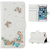 Casefirst Sony Xperia M2 Aqua wallet case Sony Xperia M2 Aqua case,Premium Design PU Leather & Soft TPU Built-In Card/Cash Slots,Wallet Case By (Butterfly)