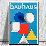 MISSOUL Affiche et Empreintes Bauhaus Exposition Couverture Image d'art Mural Toile Peinture Cadeau sans Cadre 50 * 70 cm