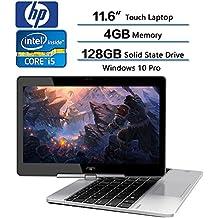 2018 HP EliteBook Revolve Flagship Laptop, 11.6 Inch HD Touchscreen Ultra Slim LED Display, Intel Core I5-5200 2.2GHz, 4GB DDR3 SDRAM, 128GB Solid State Drive, Windows 10 Pro