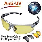 Safeyear Anti UV Cycling Glasses [3 Interchangeable Lens] -SG008 Anti Fog Mirror Safety