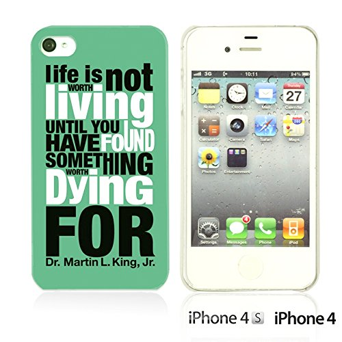 OBiDi - Typography Pattern Hard Back Case / Housse pour Apple iPhone 4S / Apple iPhone 4 - Life Is Life Is