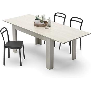 Mobili Fiver, Table de Cuisine Extensible, Mélaminé, Orme Perle 140 x 90 x  77 cm 7ac410547a49