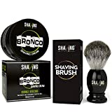 #1: Shaving Station Bronco Shaving Cream - 200ml - No Parabens - No Sulphates - with Shaving Station's Shaving Brush