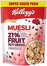 New Kellogg's Muesli with 21% Fruit, Nut & Seeds |Tastier now with Cranberries and Pumpkin Seeds |Brea